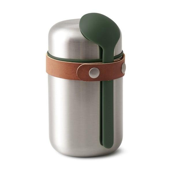 Zielony termos obiadowy ze stali nierdzewnej Black + Blum Flask, 400 ml