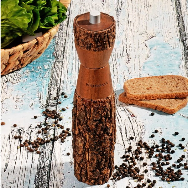 Dřevěný přírodní mlýnek na pepř Acacia