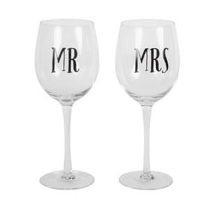 Sada 2 sklenic na víno Sass & Belle Mr And Mrs