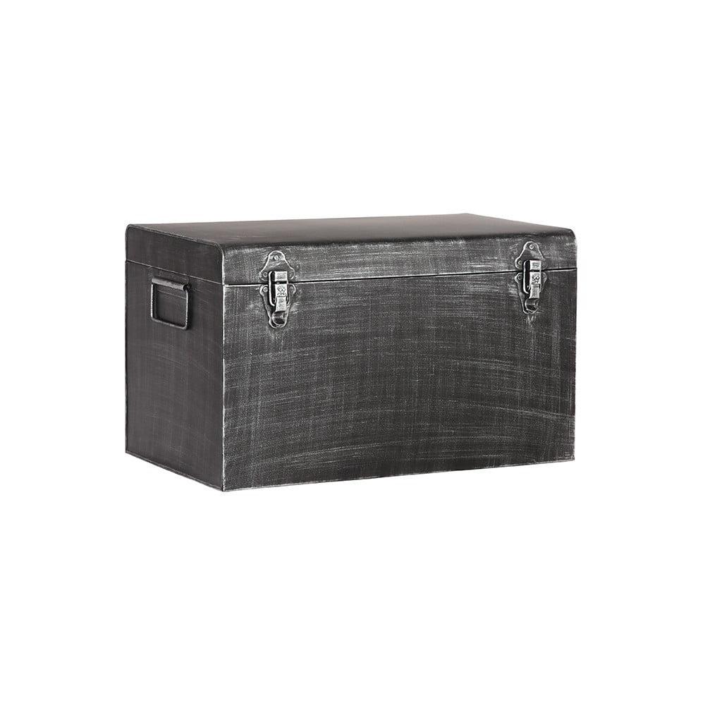 61d303325 Černý kovový úložný box LABEL51, délka 60 cm