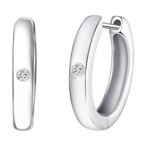 Stříbrné náušnice s pravým diamantem Tess Diamonds Ilze