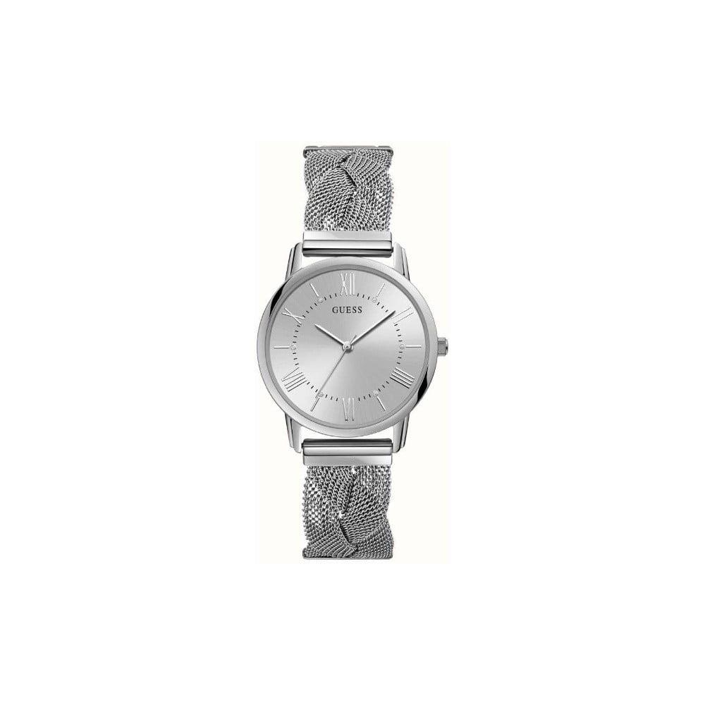 Dámské hodinky ve stříbrné barvě s páskem z nerezové oceli Guess W1143L1
