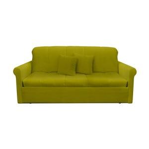 Canapea extensibilă cu 3 locuri 13Casa Greg, verde