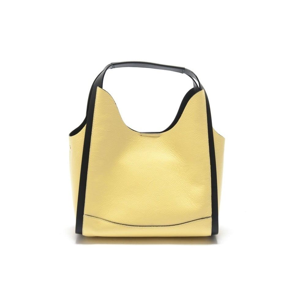 Žlutá kožená kabelka Isabella Rhea Ravenea