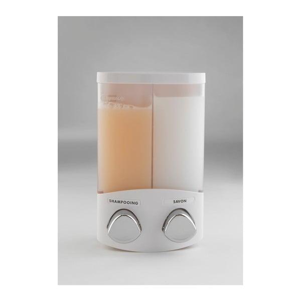 Dvojitý bílý dávkovač na mýdlo Compactor Uno, 620ml