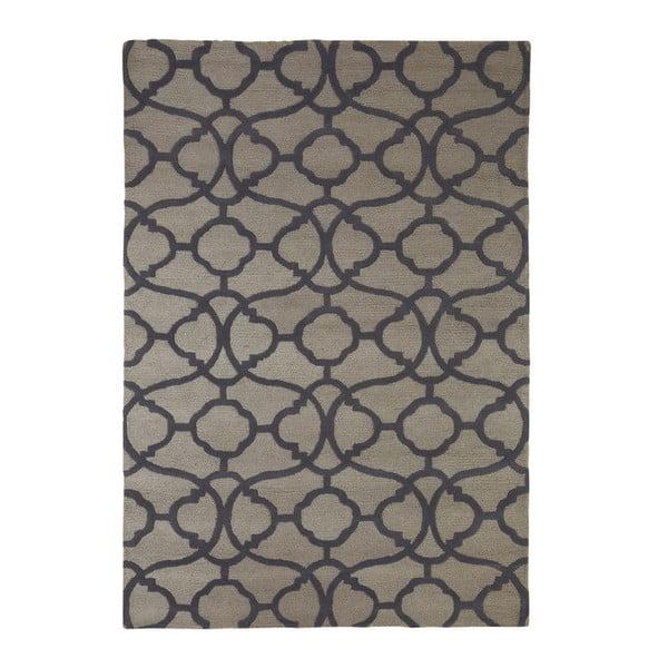 Vyšívaný koberec Large Tile Print, 170x240 cm, šedý
