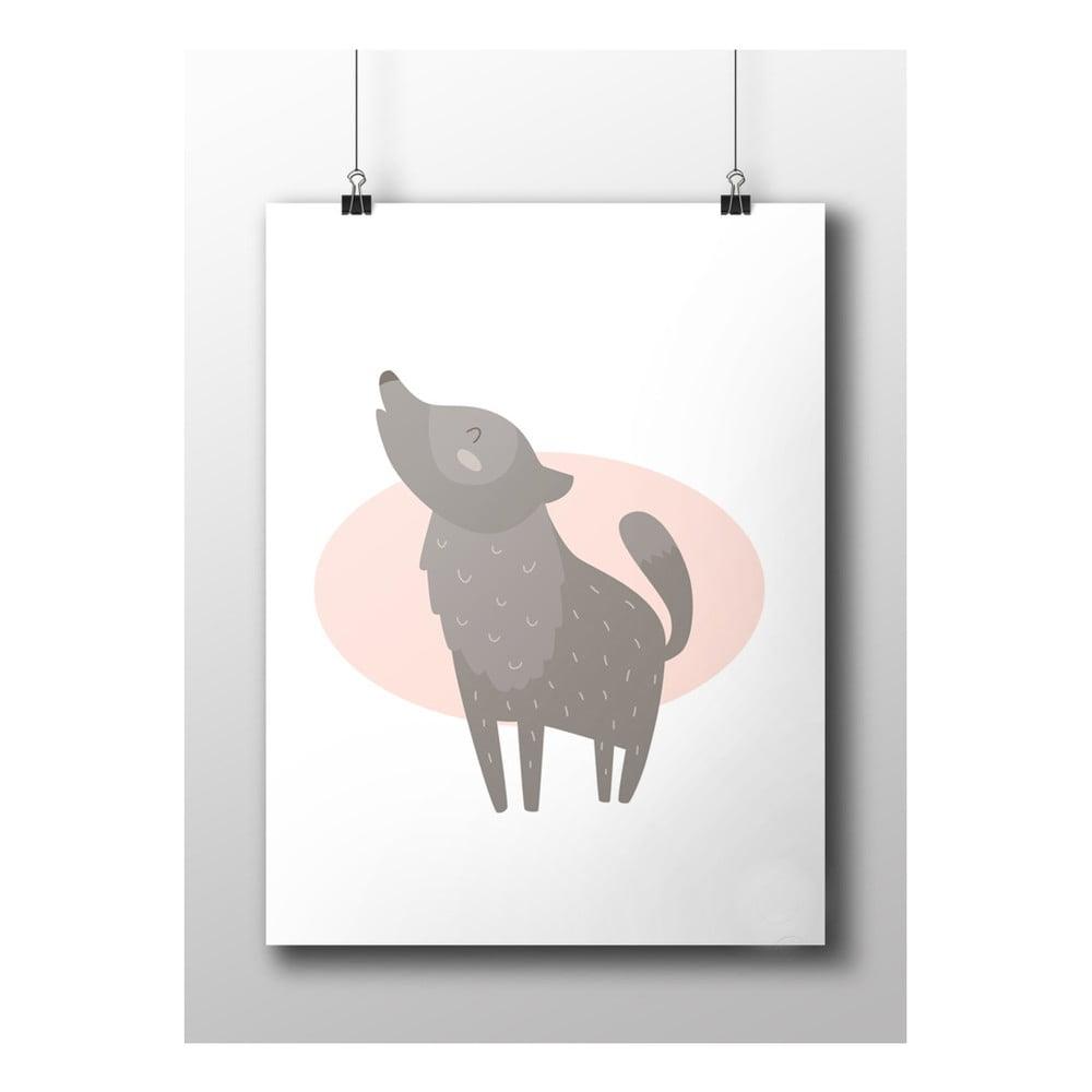 poster wolf 50 x 70 cm bonami. Black Bedroom Furniture Sets. Home Design Ideas