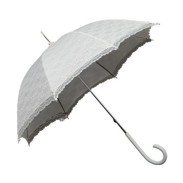 Biely tyčový dáždnik Ambiance Falconetti Victorian Lace, ⌀ 85cm