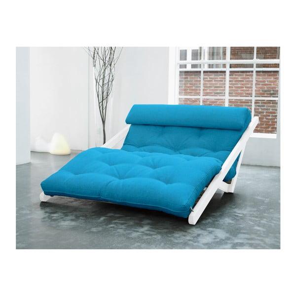 Fotoliu Karup Figo, White/Horizon Blue, 120 cm
