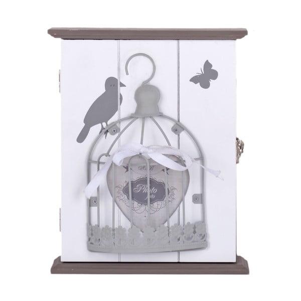 Dřevěná budka na klíče Ptačí klec