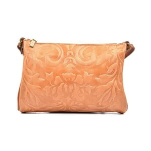 Koňakově hnědá kožená kabelka Carla Ferreri Cipria