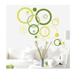 Samolepka Green Bubbles