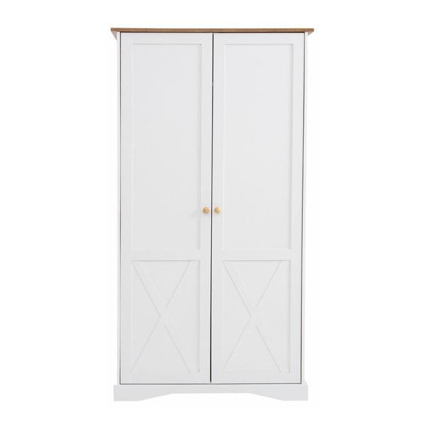 Biała szafa 2-drzwiowa Støraa Aldo