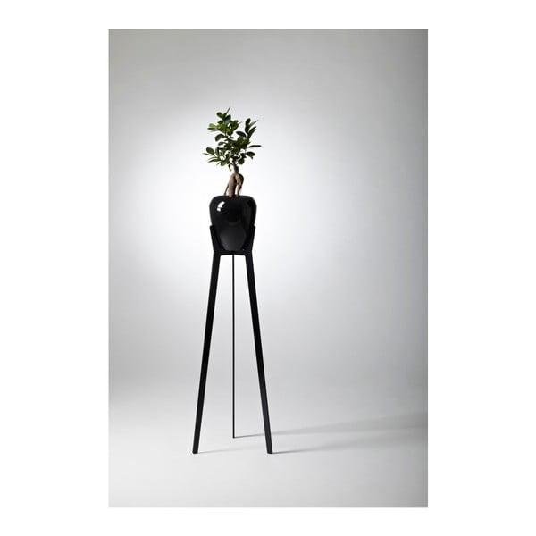 Samozavlažovací květináč Calimera (černá) se stojánkem Torreta