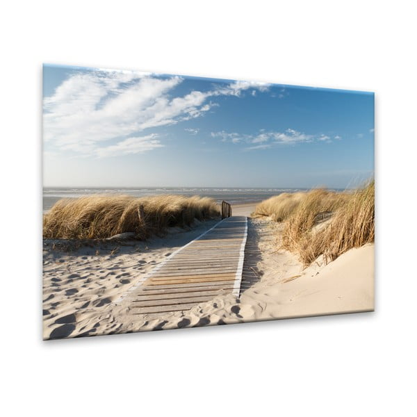 Tablou Styler Glasspik Sandy Beach, 70 x 100 cm