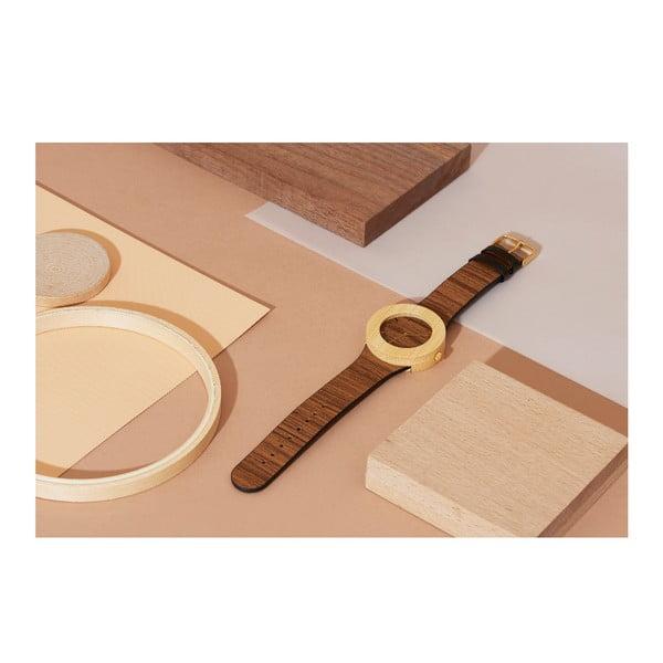 Dřevěné hodinky s hodinovými čárkami Analog Watch Co. Teak & Bamboo