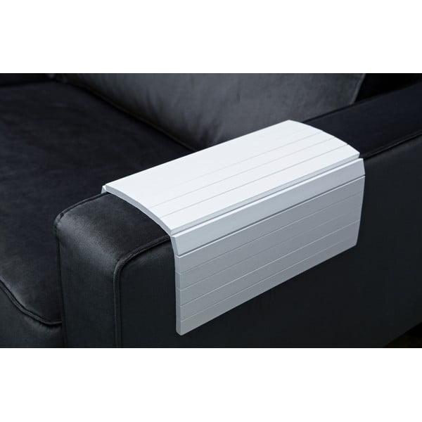 Fehér fatálca, kartámaszra helyezhető - WOOOD
