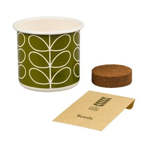 Set ghiveci cu semințe Orla Kiely Grow Your Own, busuioc