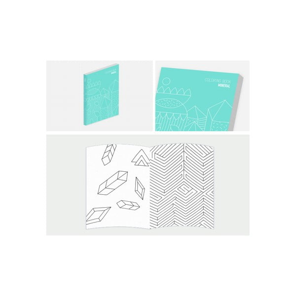 Notes s omalovánkami Mineral