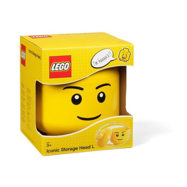 Mały pojemnik w kształcie głowy LEGO® Boy, Ø 16,3 cm