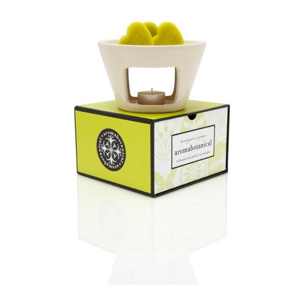 Lampă aromatică cu aromă de lemongrass Aromabotanical Sweet Home, durată de ardere 30 ore