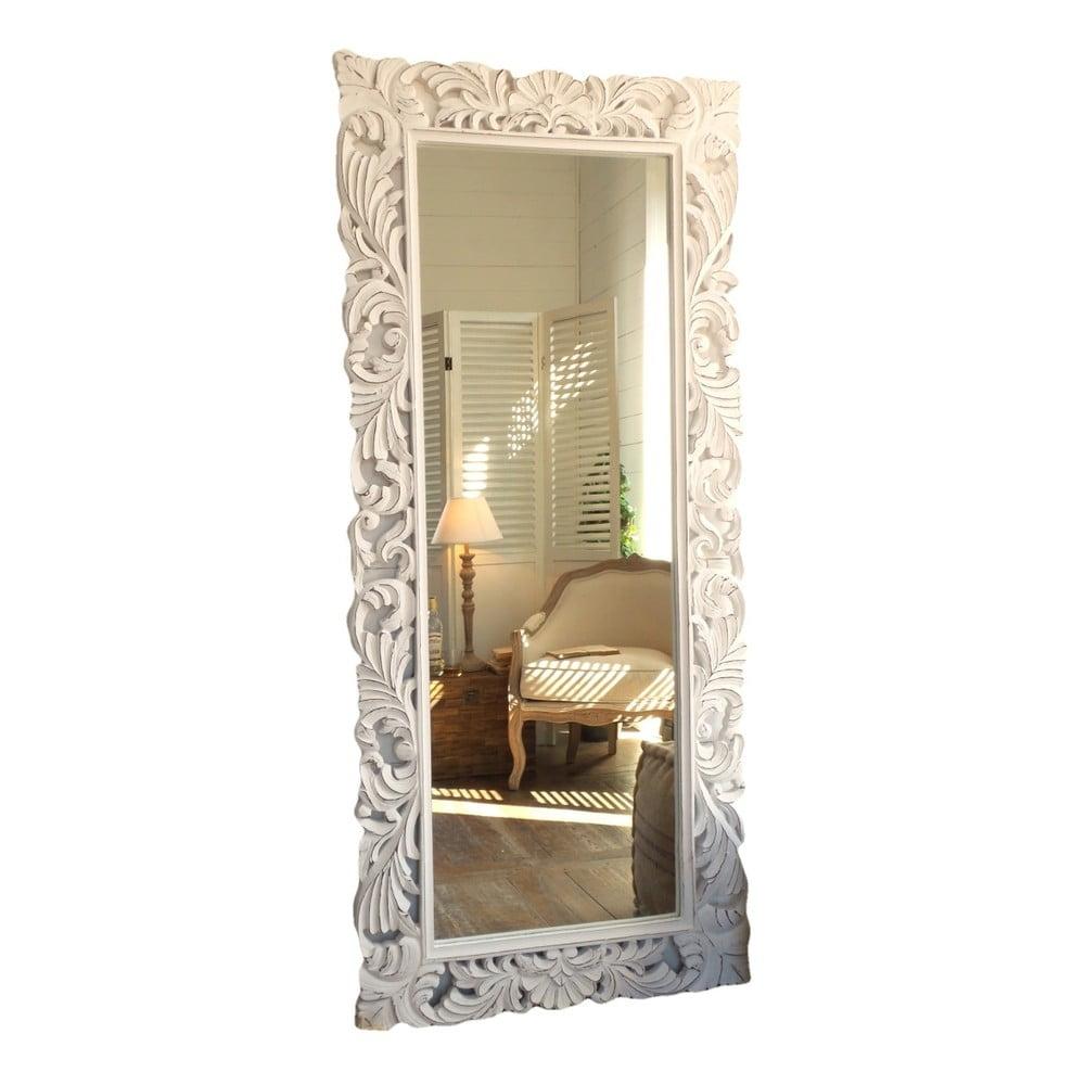 4f82298572 Nástěnné zrcadlo z mangového dřeva Orchidea Milano Natural Antique