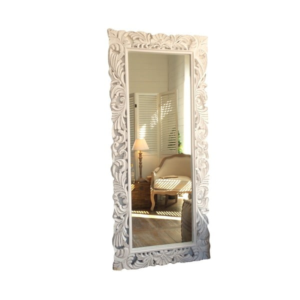 Nástěnné zrcadlo zmangového dřeva Orchidea Milano Natural Antique