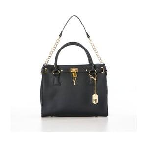 Černá kožená kabelka Federica Bassi Dollaro