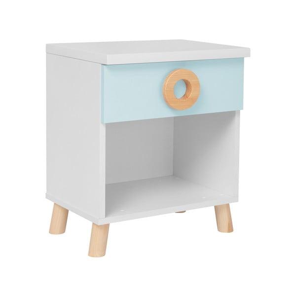 Modro-bílý noční stolek KICOTI Circle
