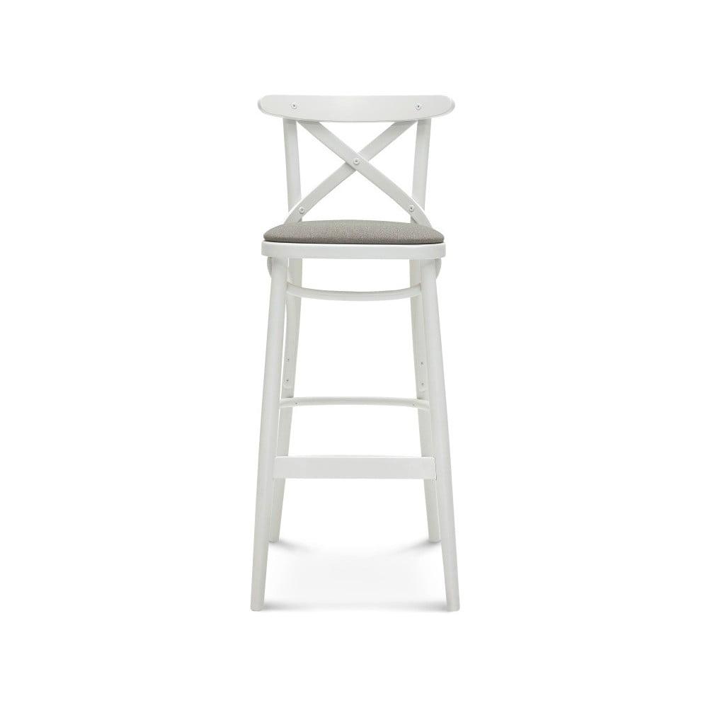 Bílá barová dřevěná židle Fameg Knud