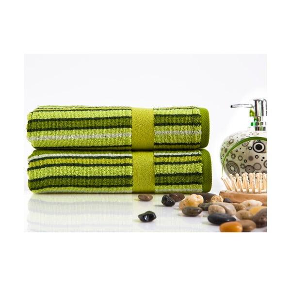 Sada 2 ručníků Liss Green, 45x90 cm