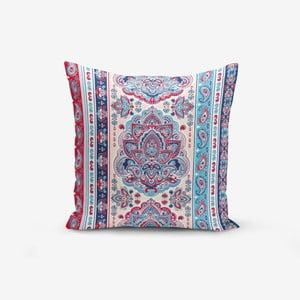 Povlak na polštář s příměsí bavlny Minimalist Cushion Covers Red Blue Cini Modern, 45 x 45 cm