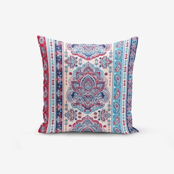 Față de pernă cu amestec din bumbac Minimalist Cushion Covers Red Blue Cini Modern, 45 x 45 cm de la Minimalist Cushion Covers