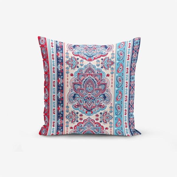 Red Blue Cini Modern pamutkeverék párnahuzat, 45 x 45 cm - Minimalist Cushion Covers