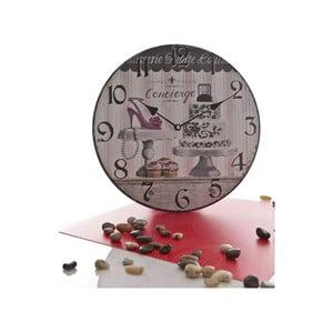 Dřevěné hodiny Concierge, White Pink