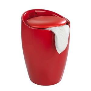 Coș de rufe /taburet Wenko Candy, 20 l, roșu