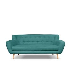 Zelenomodrá pohovka pro tři Cosmopolitan design London