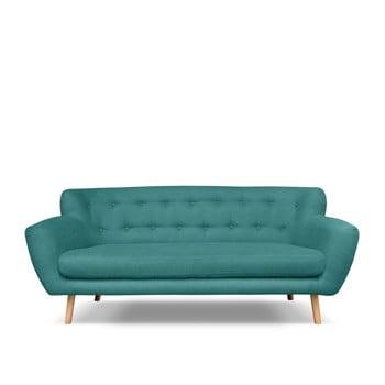 Canapea cu 3 locuri Cosmopolitan design London verde - albastru