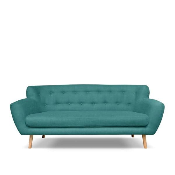 Canapea cu 3 locuri Cosmopolitan design London, verde - albastru