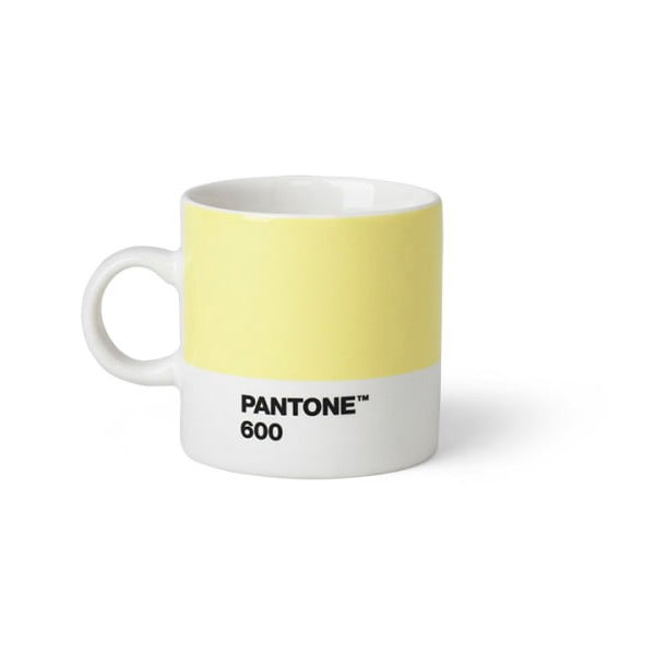 Cană Pantone 600 Espresso, 120 ml, galben deschis