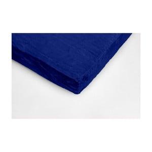 Cearceaf din micropluș My House, 90 x 200 cm, albastru închis