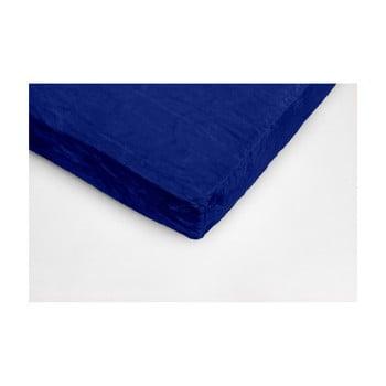 Cearceaf din micropluș My House, 180 x 200 cm, albastru închis imagine