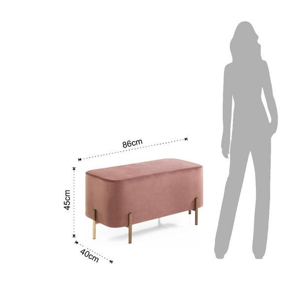 Růžová taburetka Tomasucci Ammy, 86x40cm