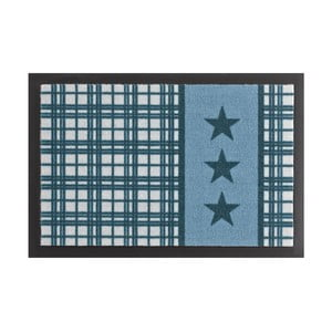 Rohožka Hanse Home Star Plaid Printy Blue, 40 x 60 cm
