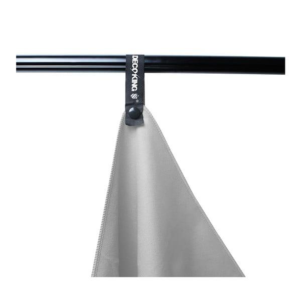 Šedá rychleschnoucí osuška DecoKing EKEA, 70 x 140 cm