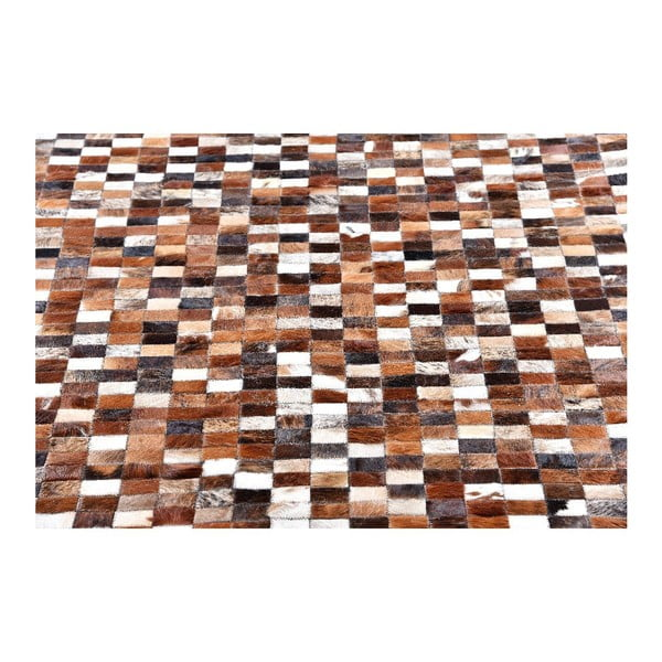 Koberec z kůže Mosaik, 193x143 cm