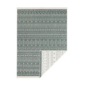 Zeleno-krémový oboustranný vysoce odolný koberec Bougari Twin Supreme Daro, 80 x 150 cm