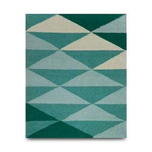 Vlněný koberec triangle 120x150 cm, tyrkysový