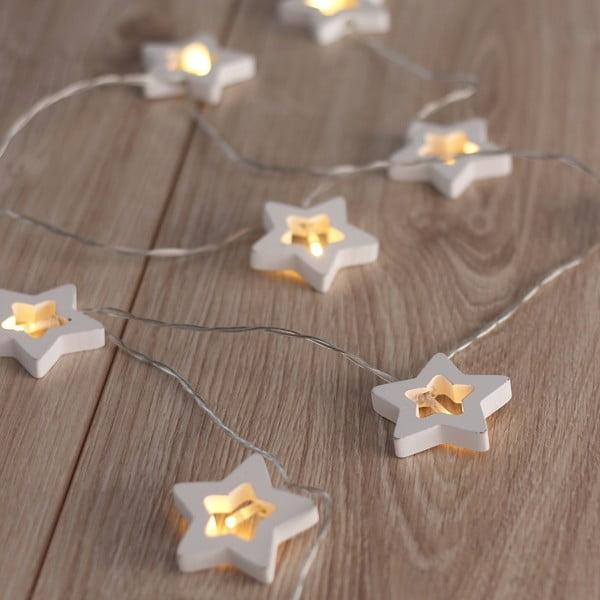 LED svetelná reťaz v tvare hviezdičiek DecoKing Star, 10 svetielok, dĺžka 1,65 m