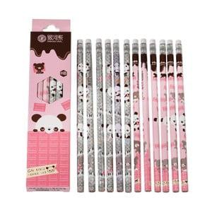 Set 12 creioane Rex London Panda